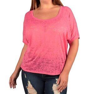 Tops - ➕🆕 (1X & 2X) Plus Size Burnout Print T-Shirt